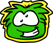 Green Puffle Pet Shop Sign