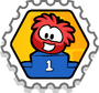 Podium puffle stamp