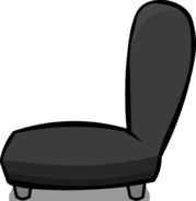 Black Plush Chair sprite 003