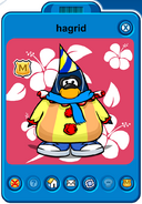 Hagrid Player Card - Mid August 2019 - Club Penguin Rewritten