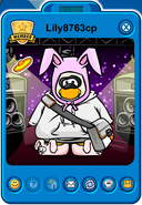 Lily8763cp Player Card - Early February 2019 - Club Penguin Rewritten