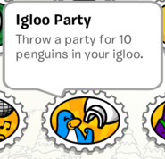 Igloo party stamp book