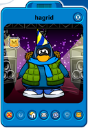 Hagrid Player Card - Early January 2019 - Club Penguin Rewritten