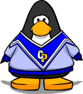 Blue Cheerleading Sweater PC