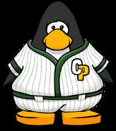 Green Baseball Uniform from a Player Card