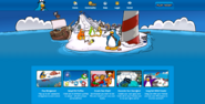 Homepage with Migrator - Club Penguin Rewritten