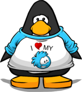 I Heart My Blue Puffle T-Shirt PC