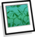 Emerald Leaves Background Icon