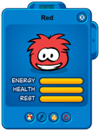 Red Puffle Card
