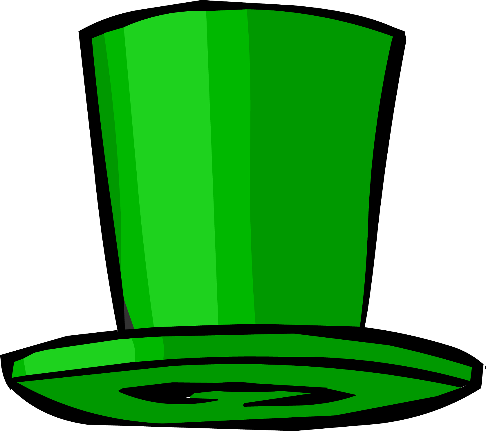 Green Top Hat  5c8cb8330012