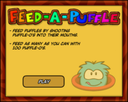 Feed-A-Puffle Start Screen
