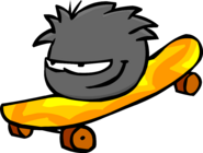 Black Puffle Skateboard