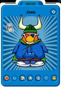 Joee Player Card - Early March 2020 - Club Penguin Rewritten