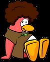 Dancing Penguin's Peach Friend