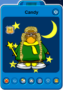 Candy Player Card - Late January 2020 - Club Penguin Rewritten