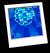 Aqua Disco Background Icon
