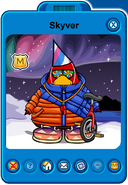 Skyver Player Card - Early February 2020 - Club Penguin Rewritten