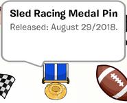 Sled Racing Stamp Pin