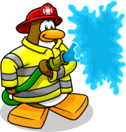 Penguin Style Firefighter
