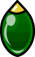 Long Green Bauble sprite 001