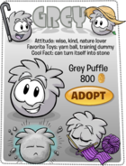 Grey Puffle Adopt Catalog