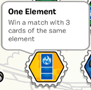 One element stamp book