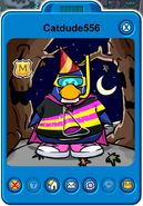 Catdude556 Player Card - Late October 2019 - Club Penguin Rewritten