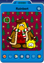 Rainbert Player Card - Late December 2019 - Club Penguin Rewritten