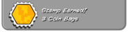 3 coin bags earned
