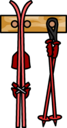 Ski Rack Red