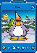 Thorn Player Card - Late August 2018 - Club Penguin Rewritten
