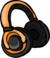 Orange Headphones icon