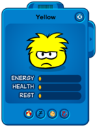 Low Yellow Puffle Card