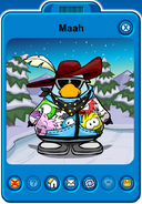 Maah Player Card - Late February 2020 - Club Penguin Rewritten
