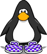 Purple Checkered Shoes PC