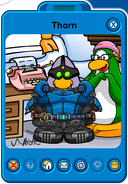 Thorn Player Card - Mid February 2019 - Club Penguin Rewritten