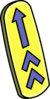Yellow Arrow Wakeboard