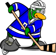 Ice Hockey Postcard Penguin 1