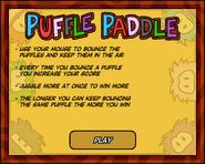 Puffle Paddle Start Screen