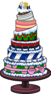 Club Penguin 13th Anniversary Party Cake