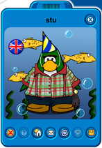 Stu Player Card - Mid November 2019 - Club Penguin Rewritten