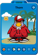 Thorn Player Card - Late March 2019 - Club Penguin Rewritten