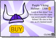 Purple Viking Helmet pop-up