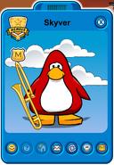 Skyver Player Card - Mid September 2019 - Club Penguin Rewritten