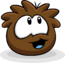 Brown Puffle Happy