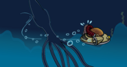 Giant Squid in the newspaper - Club Penguin Rewritten