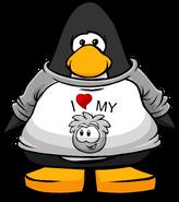 I Heart My Grey Puffle T-Shirt PC