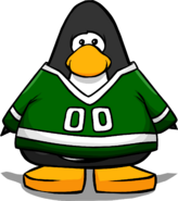 Green Hockey Outfit Penguin