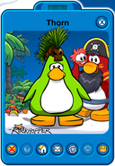 Thorn Player Card - Late June 2019 - Club Penguin Rewritten