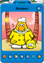 Rainbert Player Card - Mid September 2019 - Club Penguin Rewritten